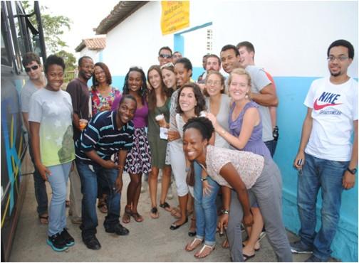Visita dos estudantes americanos ao NUDES