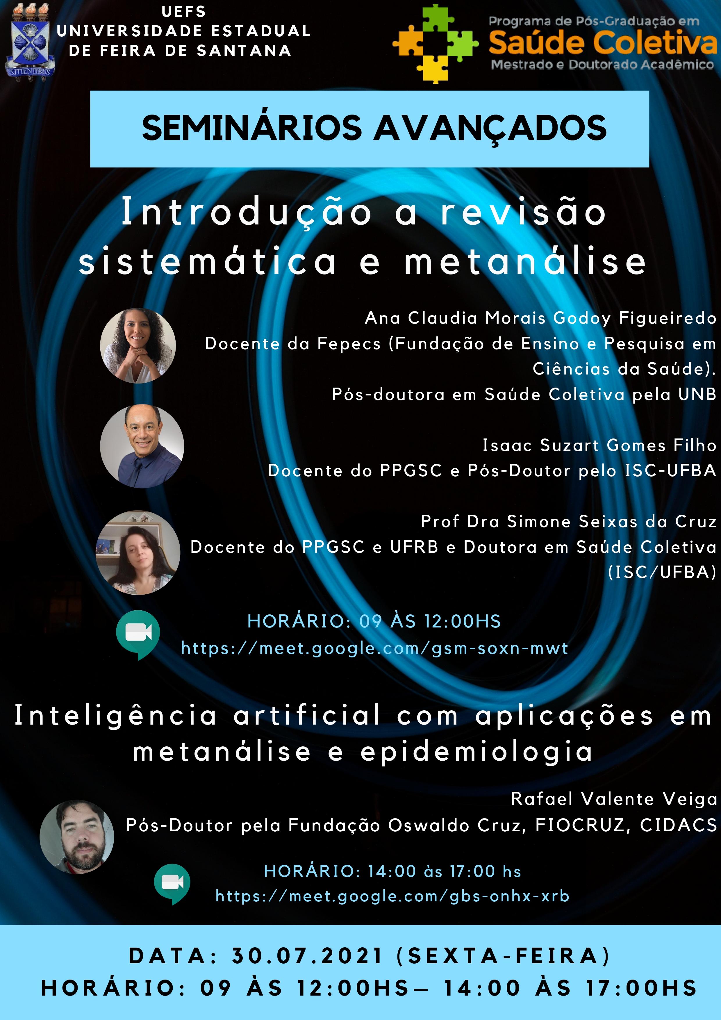 Introdução a revisão sistemática e metanálise | Inteligência artificial com aplicações em metanálise e epidemologia